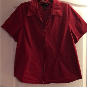 Lane Bryant zippered front shirt, size 18/20